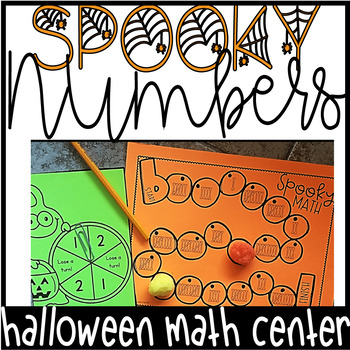 Halloween Activities | Math Centers | Number Sense Board Game