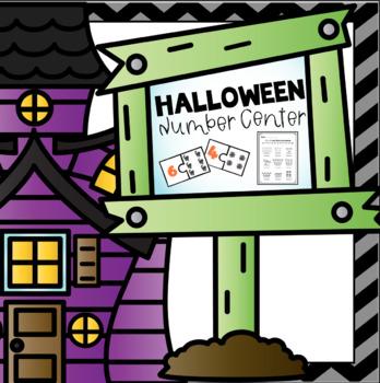 Halloween Math Center Numbers 1-9