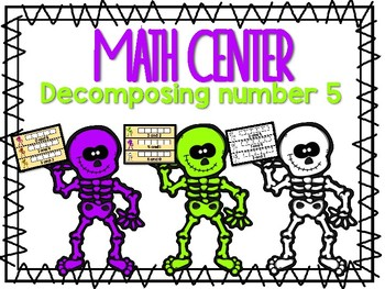 Halloween Math Center - October Skeleton Center