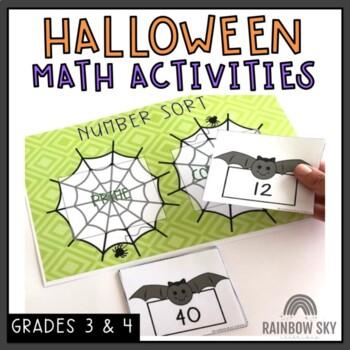 Halloween Math Center Pack - 3rd Grade, 4th Grade