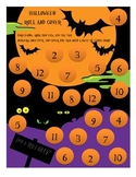 Halloween Math Center: Roll and Cover