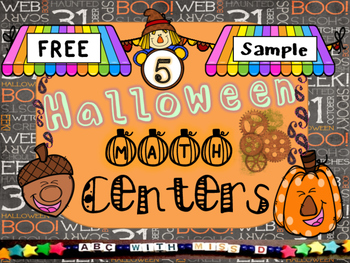 Halloween Math Center Sample Freebie! Add and Color, and Count and Graph!