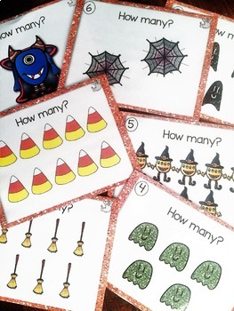 Numbers to 10 ~ Halloween Math Center ~ Task Cards