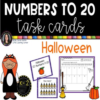 Numbers to 20 ~ Halloween Math Center ~ Task Cards