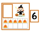 Halloween Math Center: Ten Frame Match