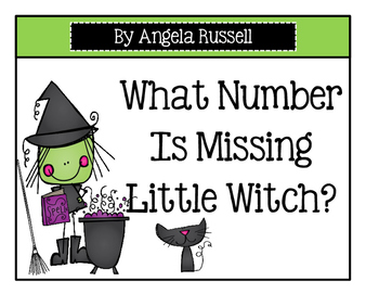 Halloween Math Center - What Number Is Missing Little Witch?