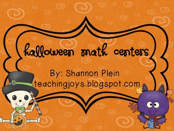 Halloween Math Centers!