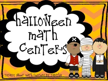 Halloween Math Centers- 10 centers, 94 pages!