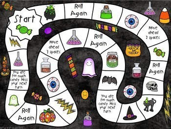 Halloween Math Centers or Stations: Math Games {5th Grade}