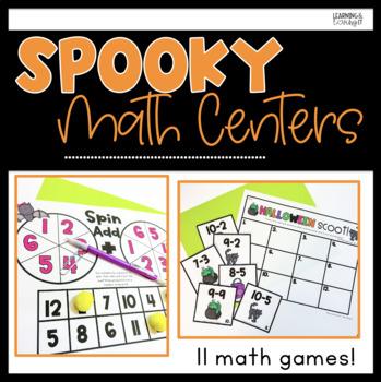 #dealsinoctober Halloween Math Center Activities