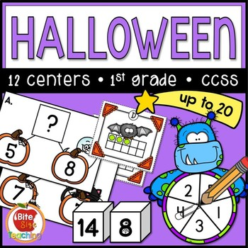Halloween Math Centers: Addition & Subtraction