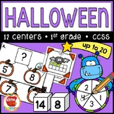 Halloween Math Centers | Addition & Subtraction to 20