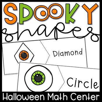 Halloween Math Centers- 2d Shapes Puzzles