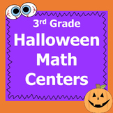 Halloween Math Centers 3rd Grade *Common Core*