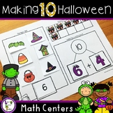 Halloween Math Centers Activities and Numbers to 10