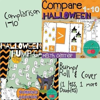 Halloween Math Centers for Kindergarten