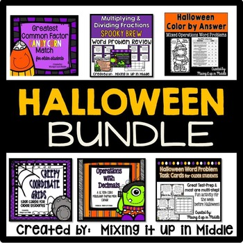 Halloween Math Centers BUNDLED for OLDER students