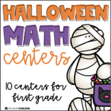 Halloween Math Centers for First Grade