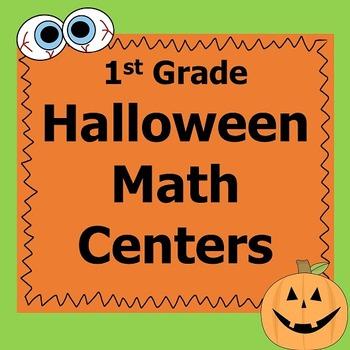 Halloween Math Centers First Grade *Common Core*
