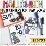 Halloween Math Centers {For Task Boxes}