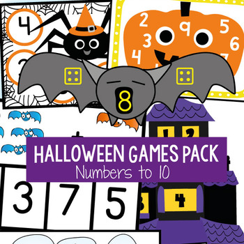 Halloween Math Centers / Games Packet -  Numbers to Ten