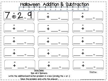 Halloween Math Centers 6 CCSS Centers (K-1st Grade)