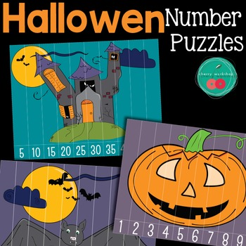 Halloween Math Center - Number Puzzles