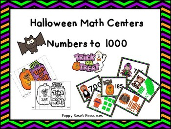 Halloween Math Centers - Numbers to 1000