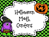 Halloween Math Centers-Preview