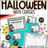 Halloween Math Activities | 5 Centers as Worksheet ALTERNATIVES