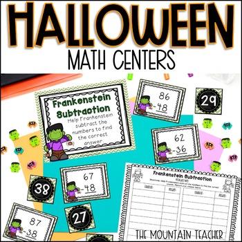 Halloween Math Centers (Second or Third Grade)