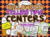 Halloween Math Centers - TELLING TIME {5 Minute Intervals}