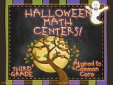 Halloween Math Centers! Third Grade: Common Core!