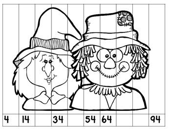 Halloween Math Centers for Combined Grades 2-3