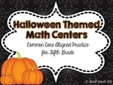 Halloween Math Centers for Fifth Grade (CC Aligned)