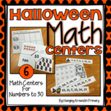 Halloween Math Centers for Numbers to 30
