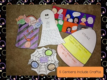 Halloween Math Centers with Crafts for 3rd Grade