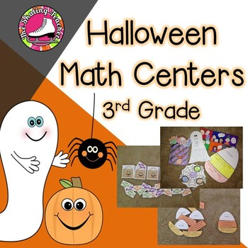 Halloween Math Centers with Crafts for 3rd Grade by The Skating Teacher