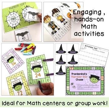 Halloween Math Centre Activities - October Math {third grade, fourth grade}