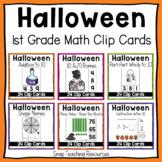 Halloween Math Clip Cards Grade One