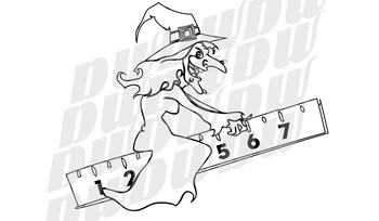 Halloween Math Clipart Outline