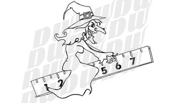 Halloween Math Clipart Outline