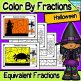 Halloween Math - Color By Fractions (Number) - Equivalent