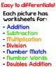 Halloween Math Facts Color-by-Code 3D Characters - Hallowe