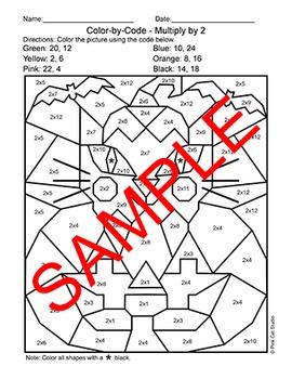 halloween math color by number activity cat in jack 39 o lantern tpt. Black Bedroom Furniture Sets. Home Design Ideas