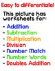 Halloween Math Center Color by Number Differentiated Activ