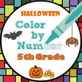 Halloween Math Color by Number - 5th Grade