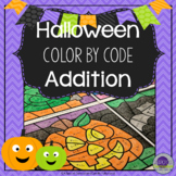 Halloween Math Coloring Sheets Addition
