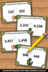 Halloween Math Games & Activities Comparing Numbers Task Cards
