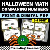 Halloween Math Centers, Comparing Numbers Task Cards Activities